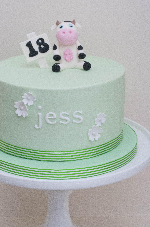 cow birthday cake vegan