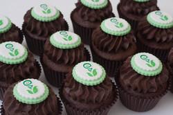 logo chocolate cupcakes vegan