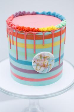 rainbow stripe cake-1