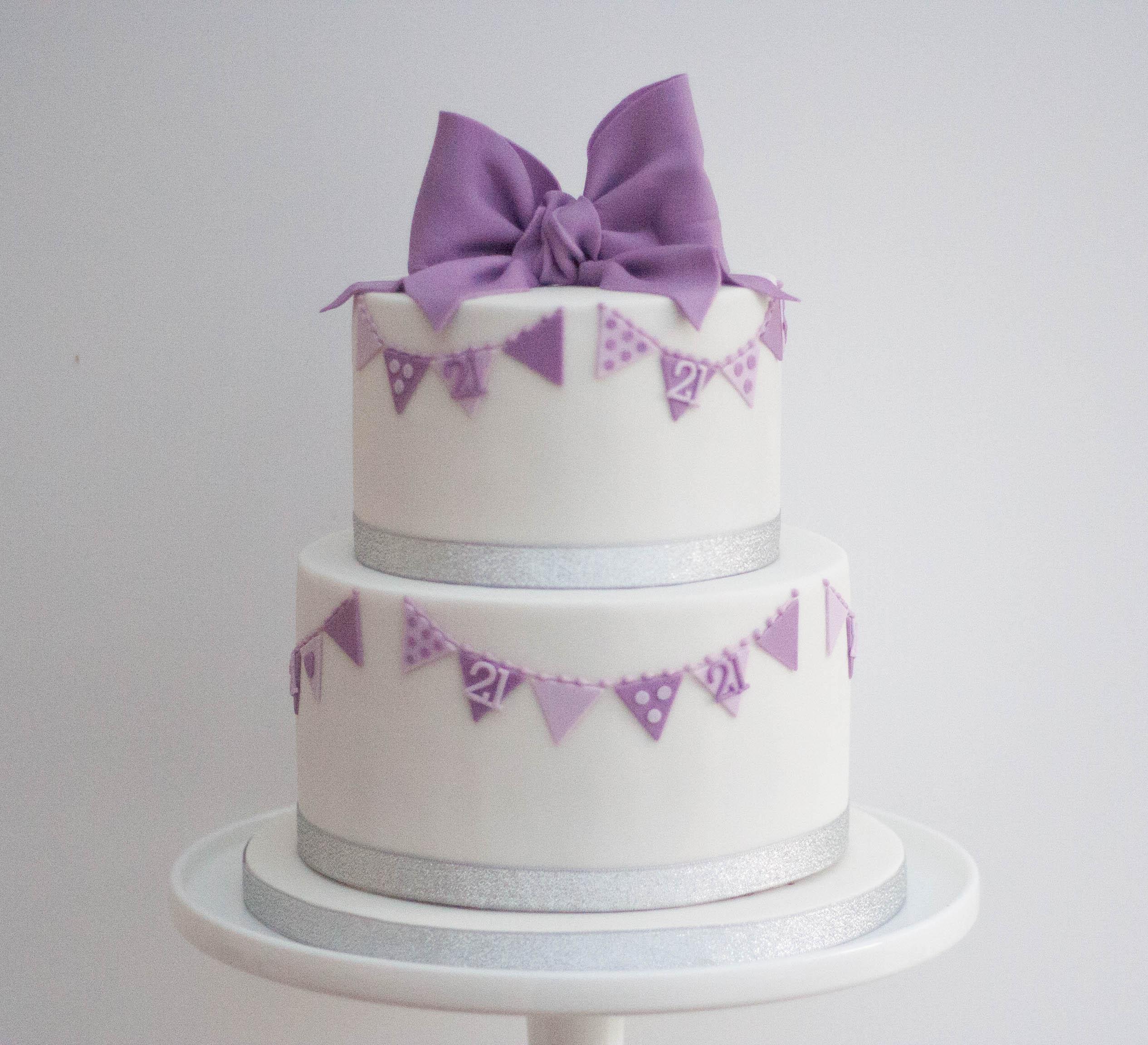 vegan purple bow bunting