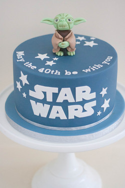 vegan star wars yoda cake