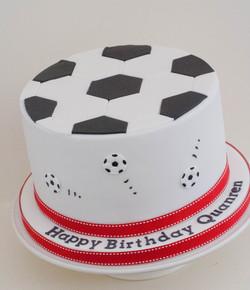 football vegan cake