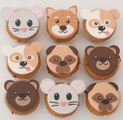 dogs mice pugs vegan cupcakes