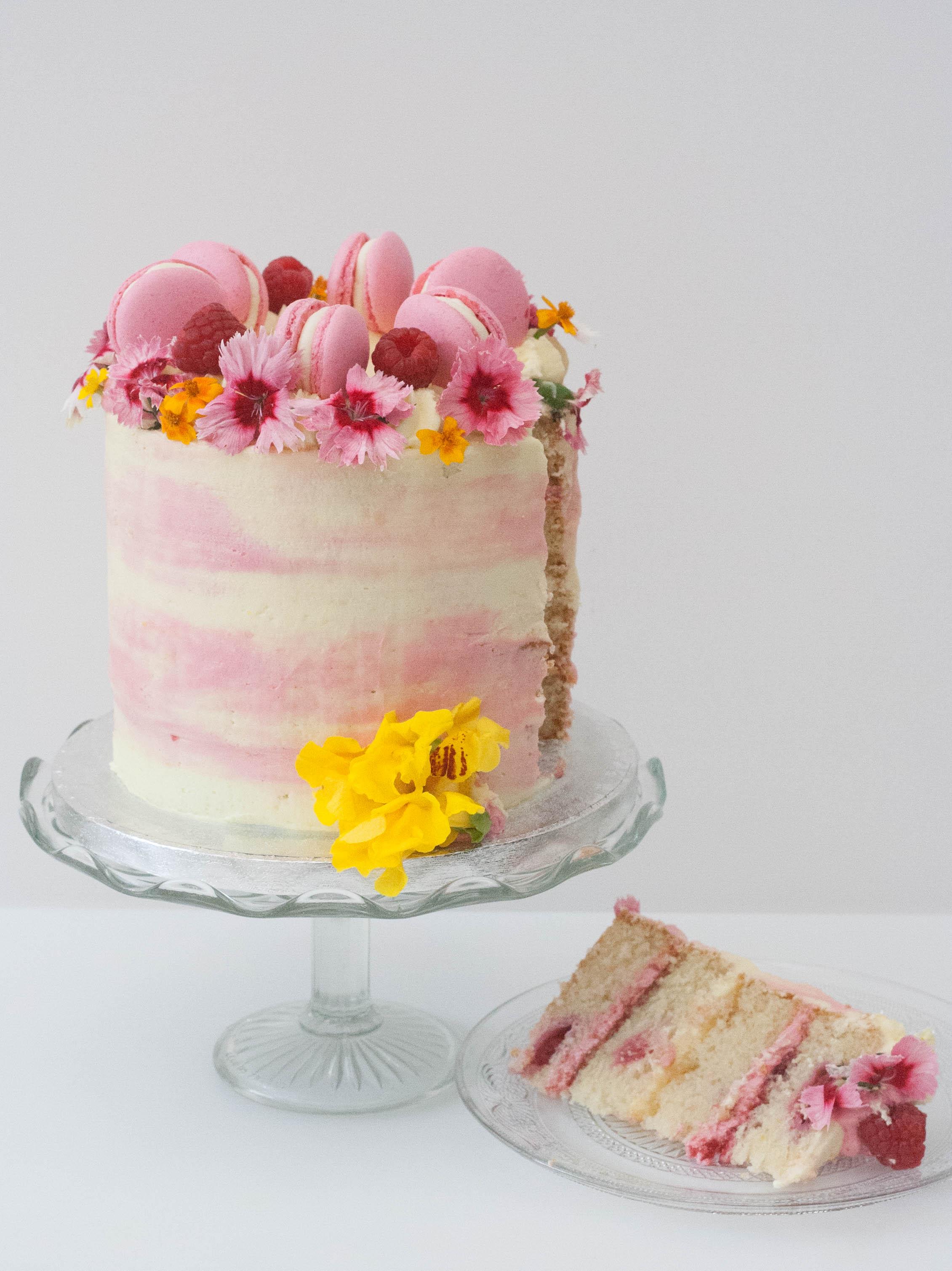 lemon rasp vegan cake-3