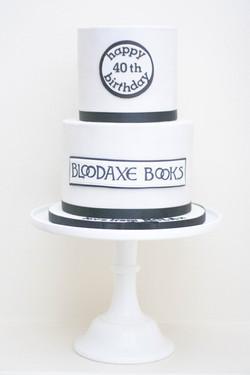Bloodaxe books two tier vegan cake