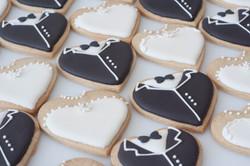 bride and groom cookies vegan many