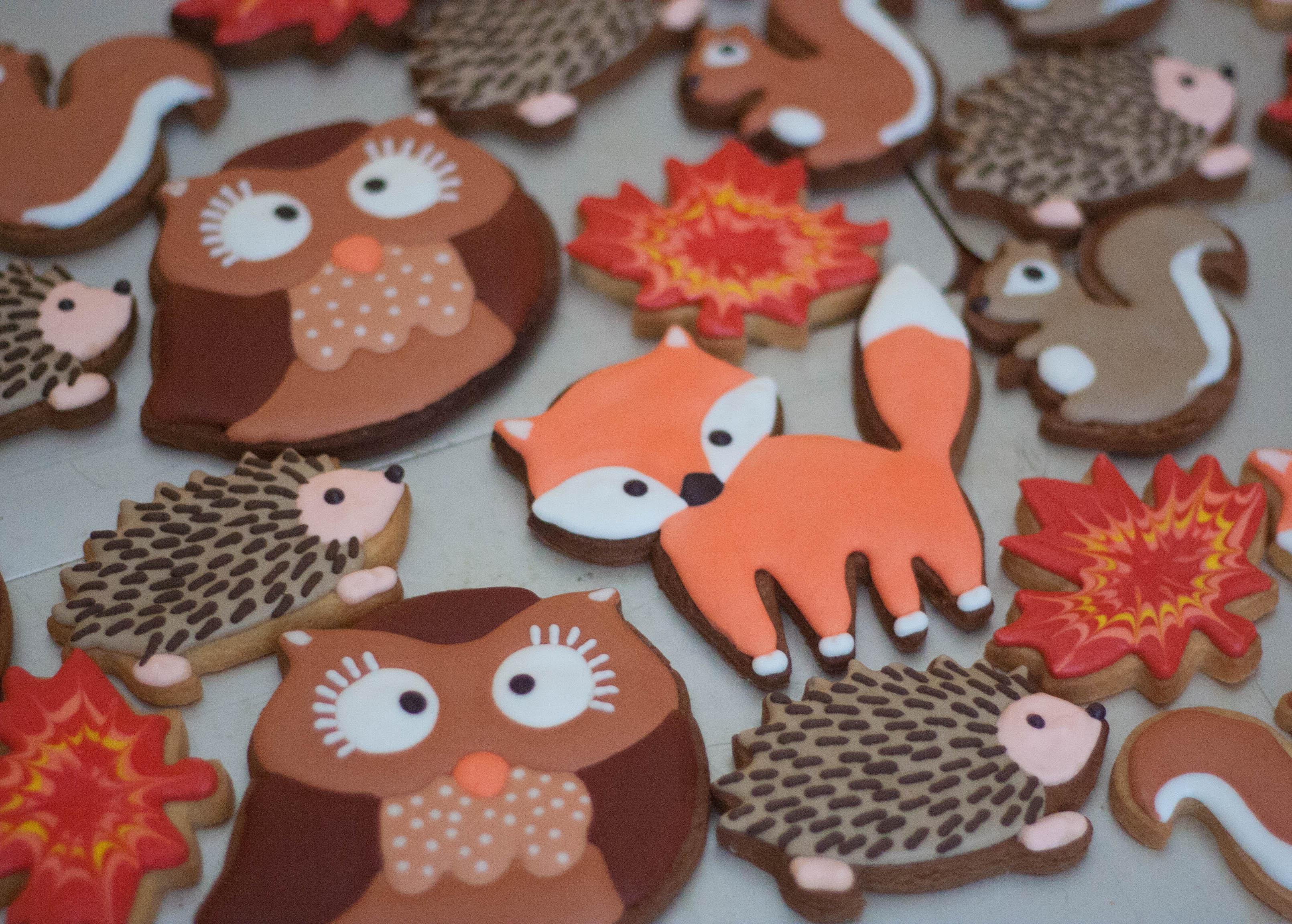 autumn vegan cookies 2