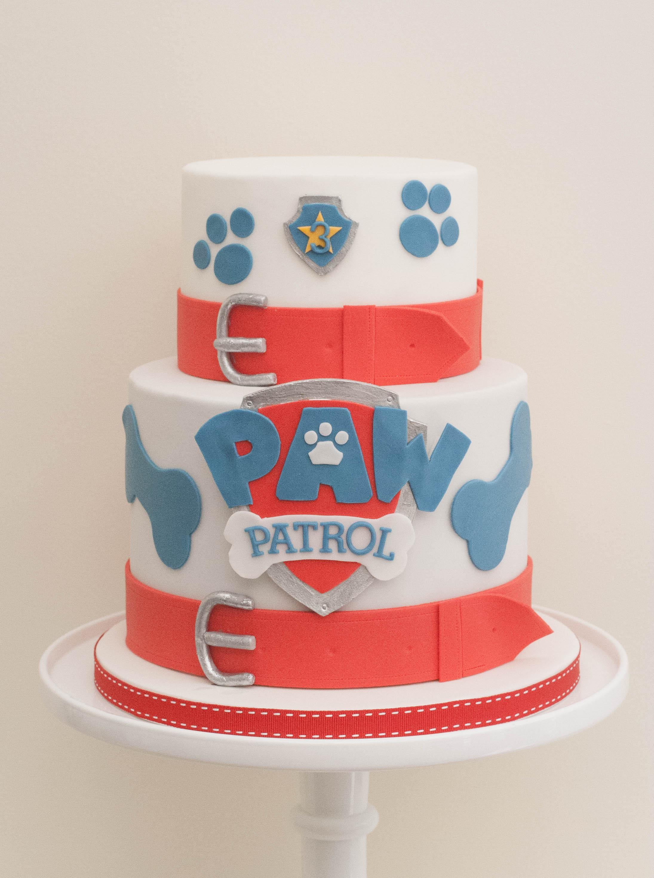 Paw Patrol cake vegan