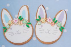 Large Easter bunnies vegan cookies
