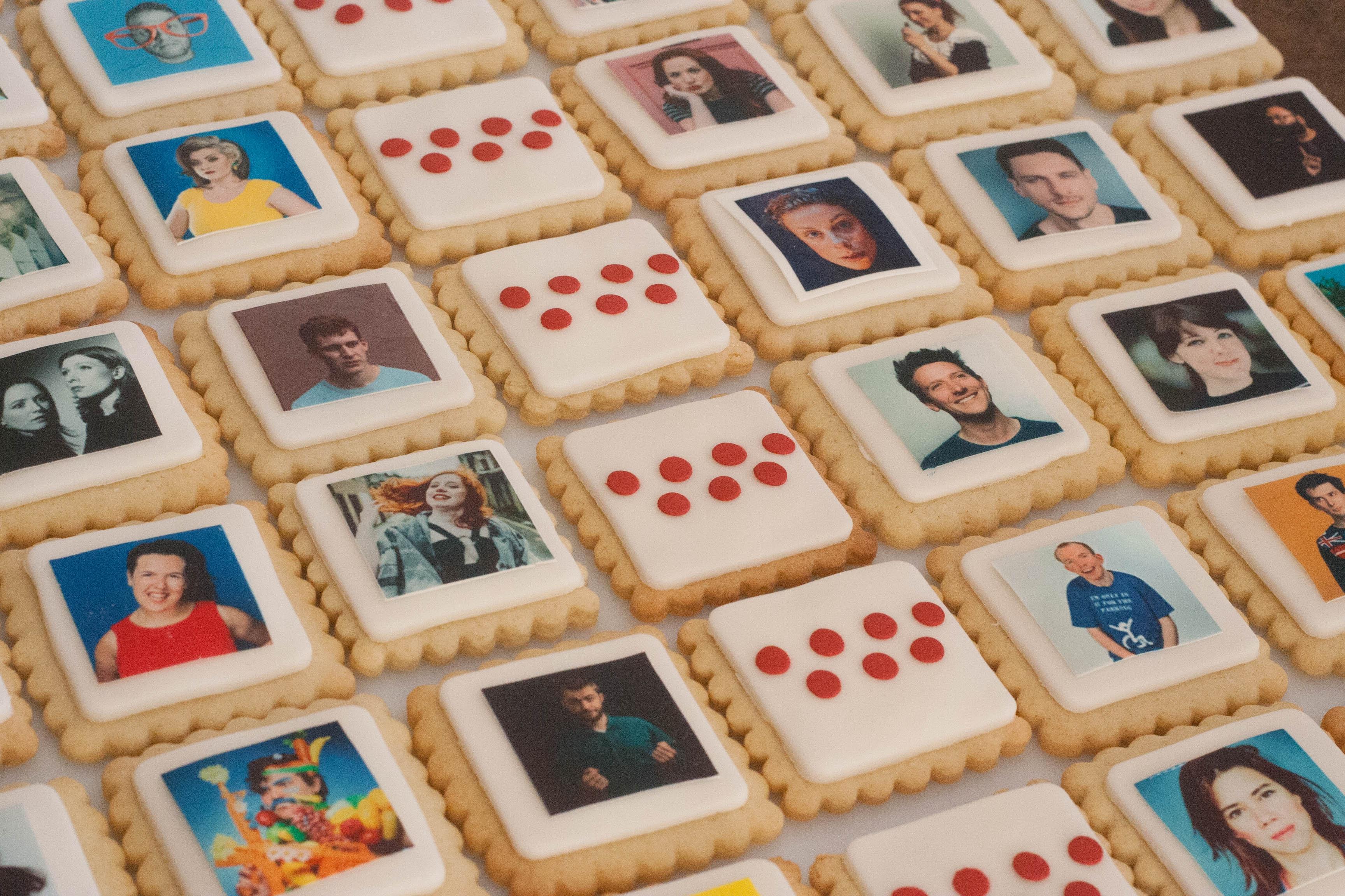 ARG cookies close up