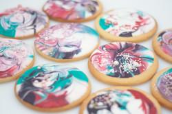 tie dye cookies landscape