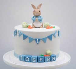 Peter Rabbit vegan cake