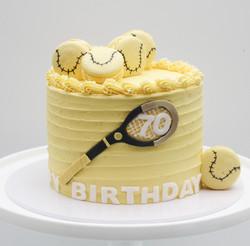 real tennis cake
