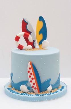 surf beach cake
