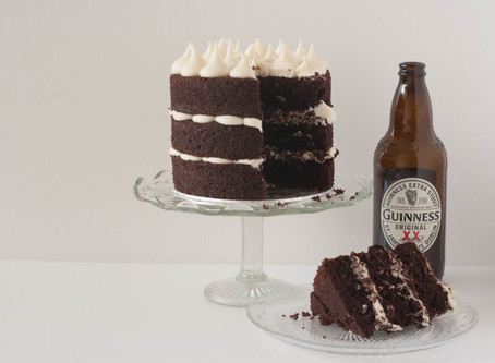Vegan chocolate Guinness cake