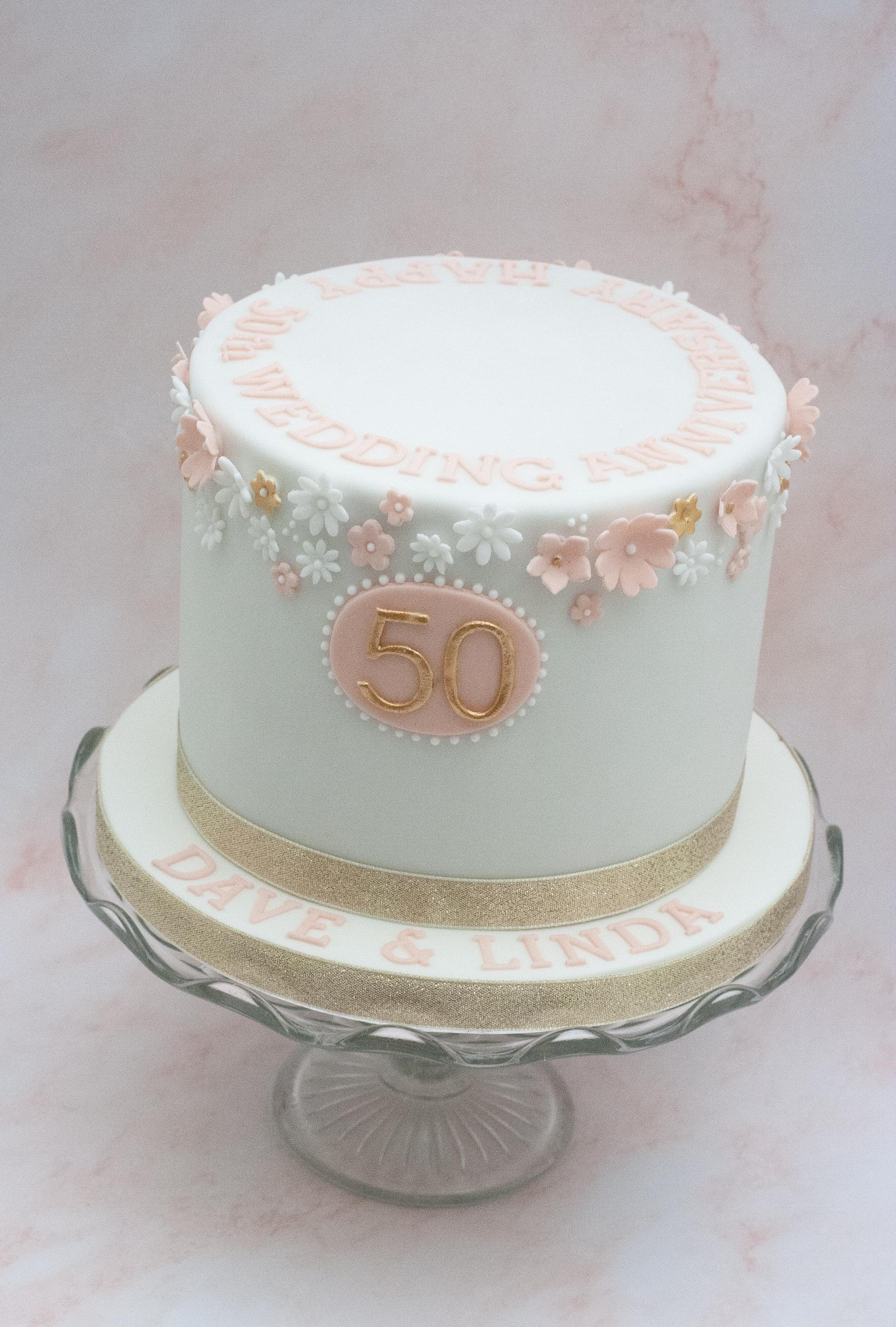 blossom anniversary cake