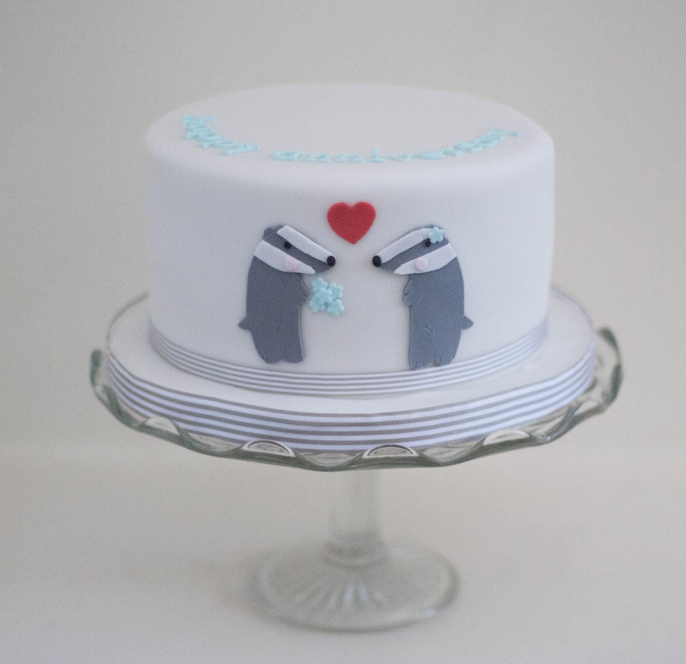 badger anniversary vegan fruit cake