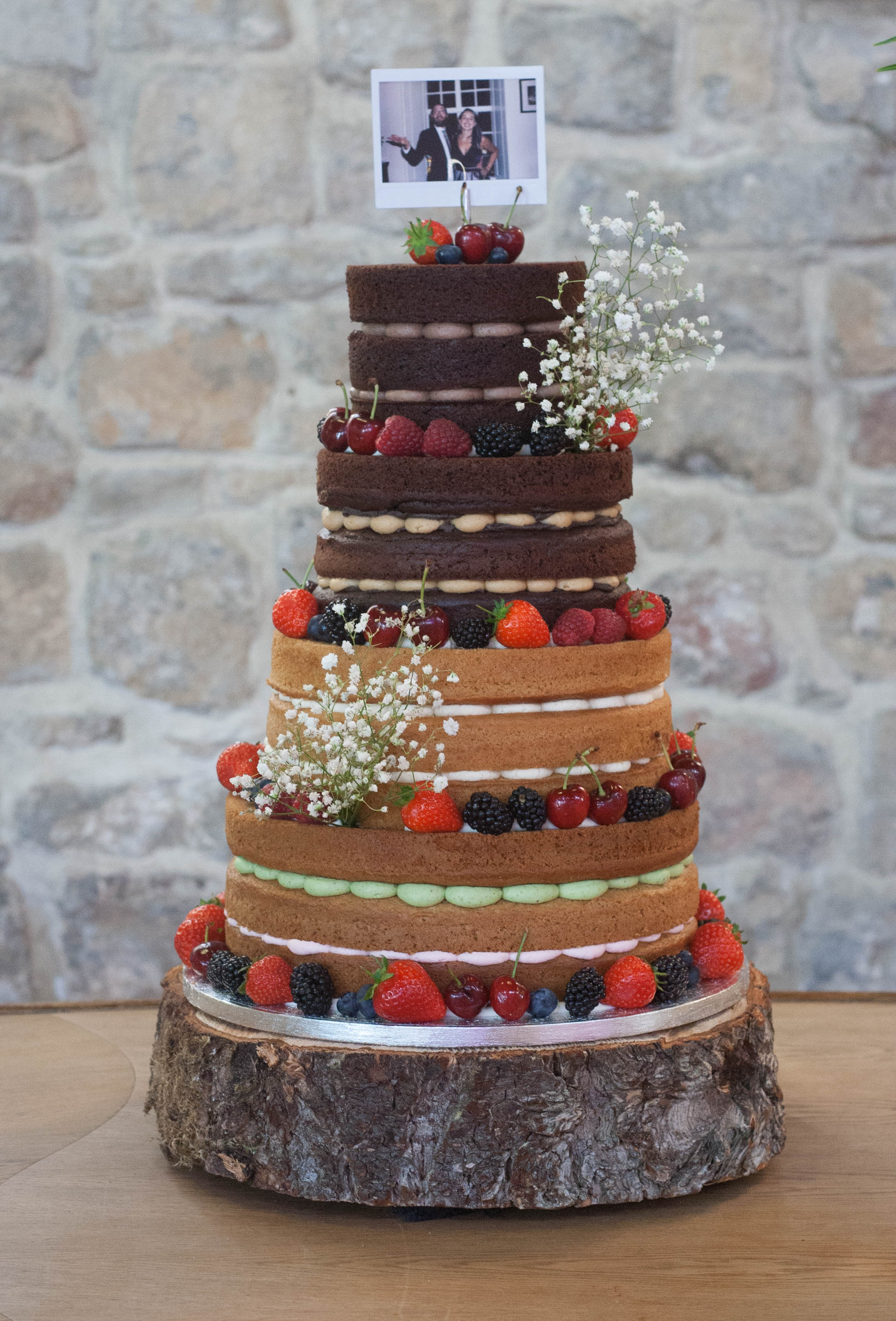 four tier naked wedding cake vegan st ma