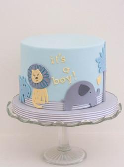 baby shower animals vegan cake