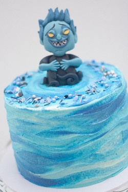 Hades Funko water frosted cake