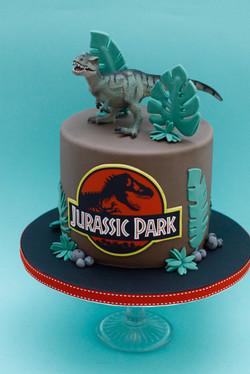 Jurassic Park cake T Rex