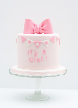 baby shower cake pink