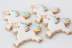 unicorn cookies gold vegan