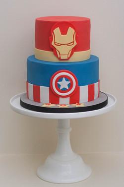 Marvel comic cake vegan