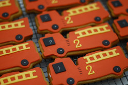 fire engine cookies