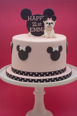 Minnie Mouse Westie cake