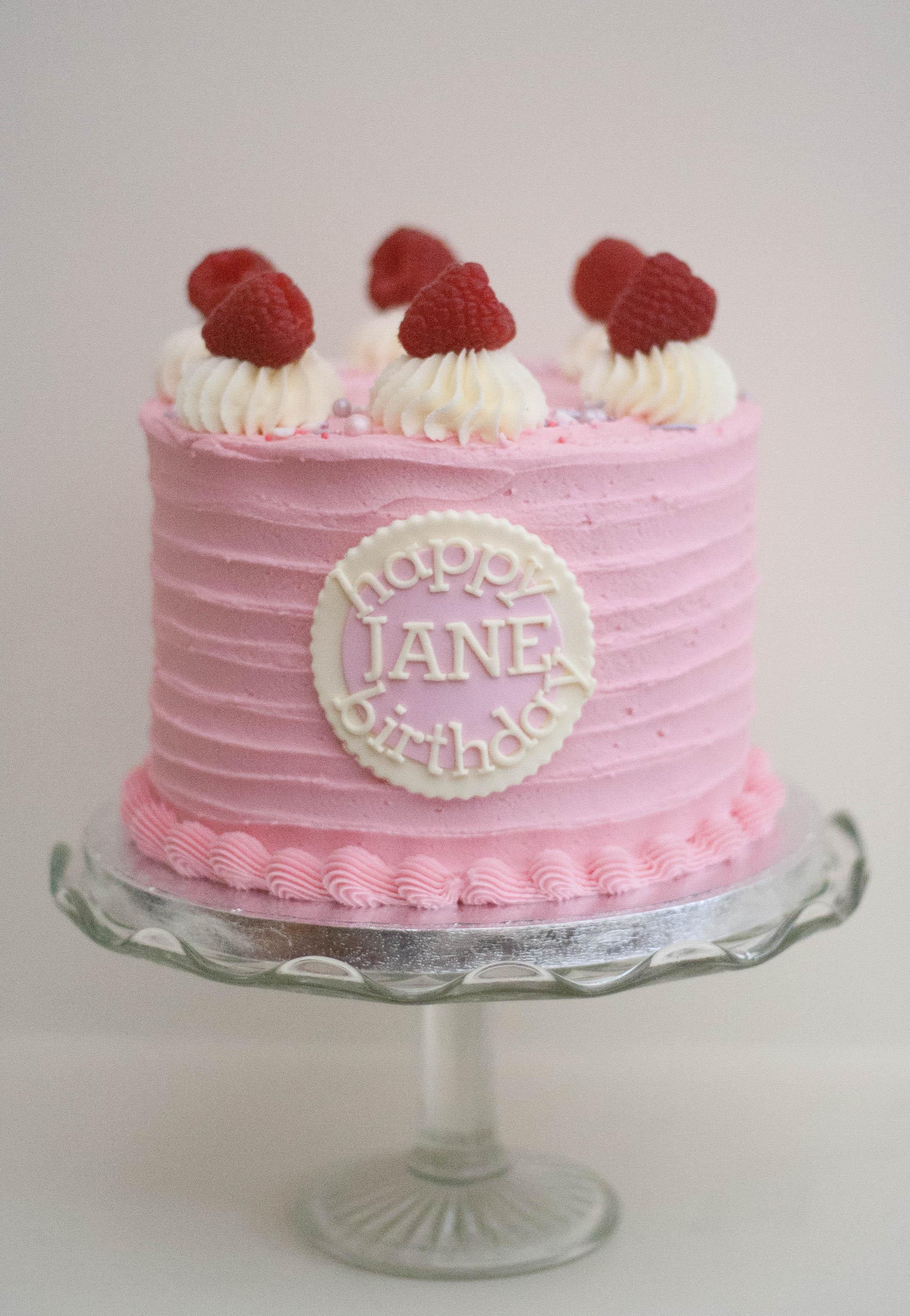 raspberry coconut vegan cake