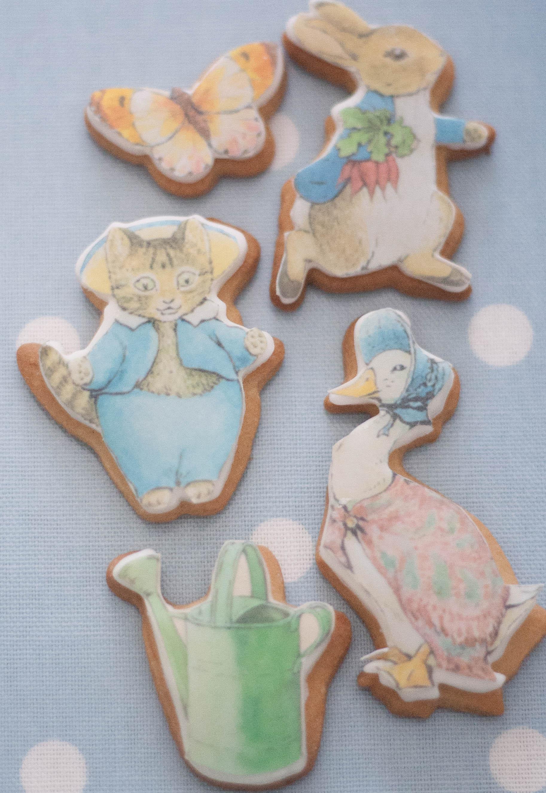 Beatrix Potter vegan cookies