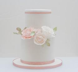 tall two tier vegan cake sugar peony ros