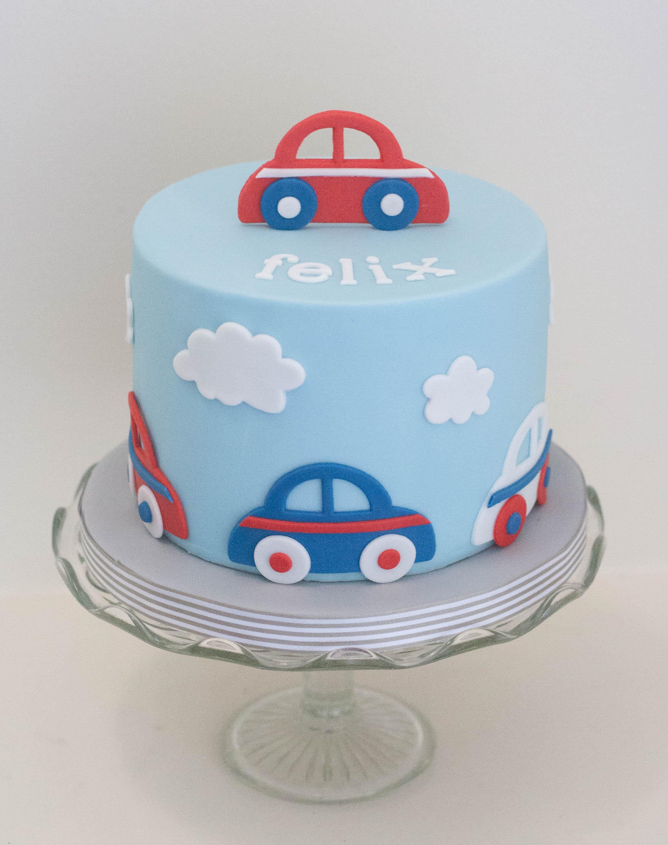 cars vegan cake