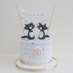 50th wedding anniversary cake cats vegan
