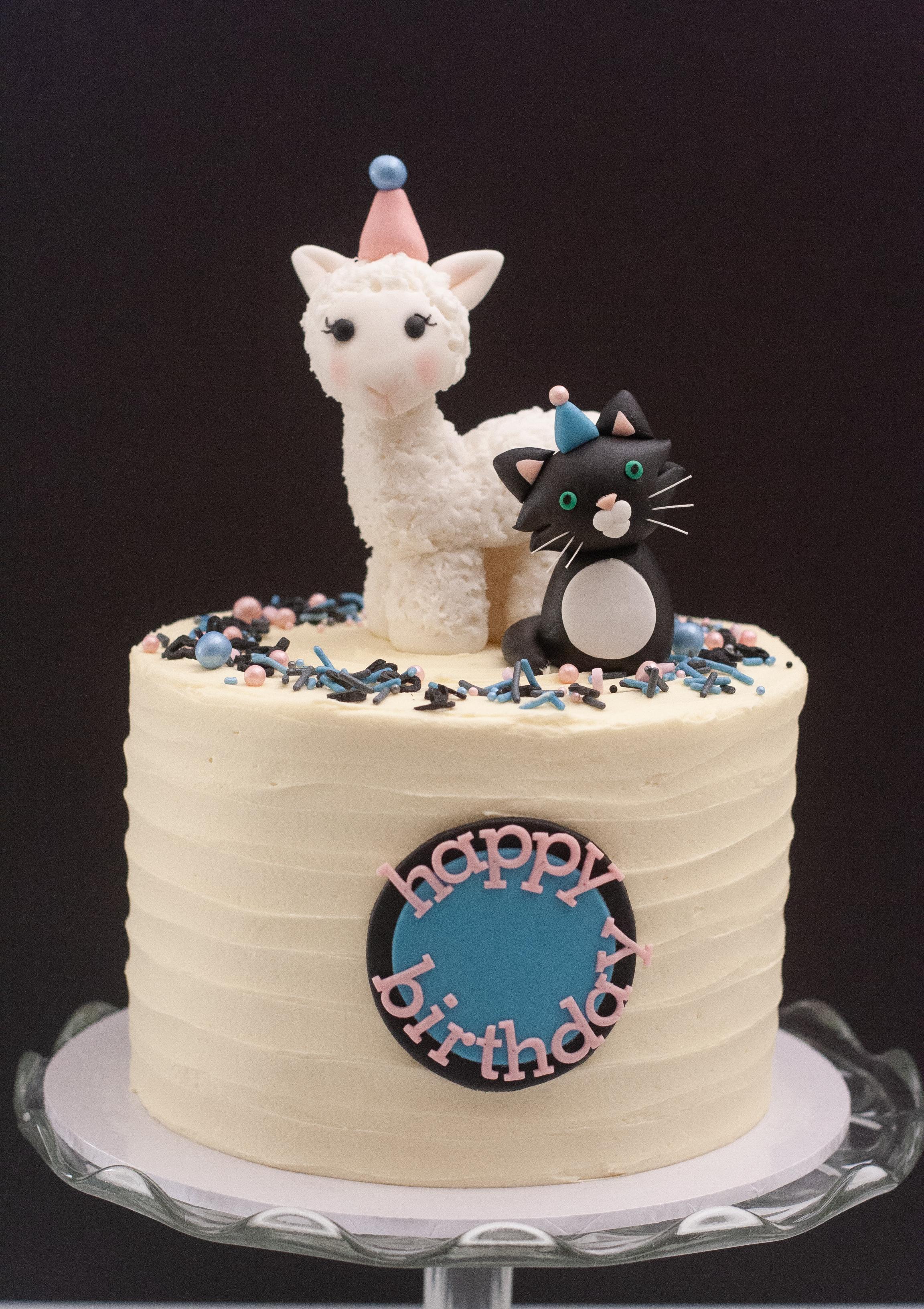 alpaca cat cake
