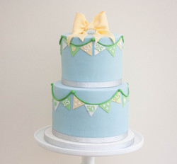 vegan two tier bunting bow