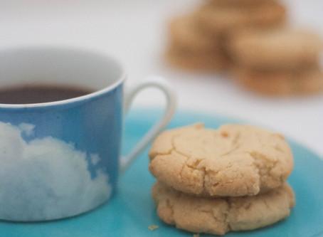 Vegan oat & tahini cookies