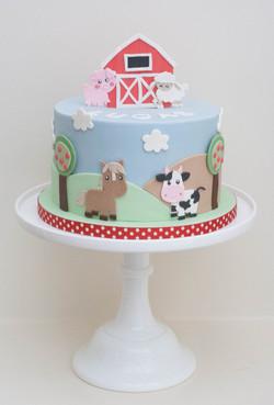 farm cake one tier vegan