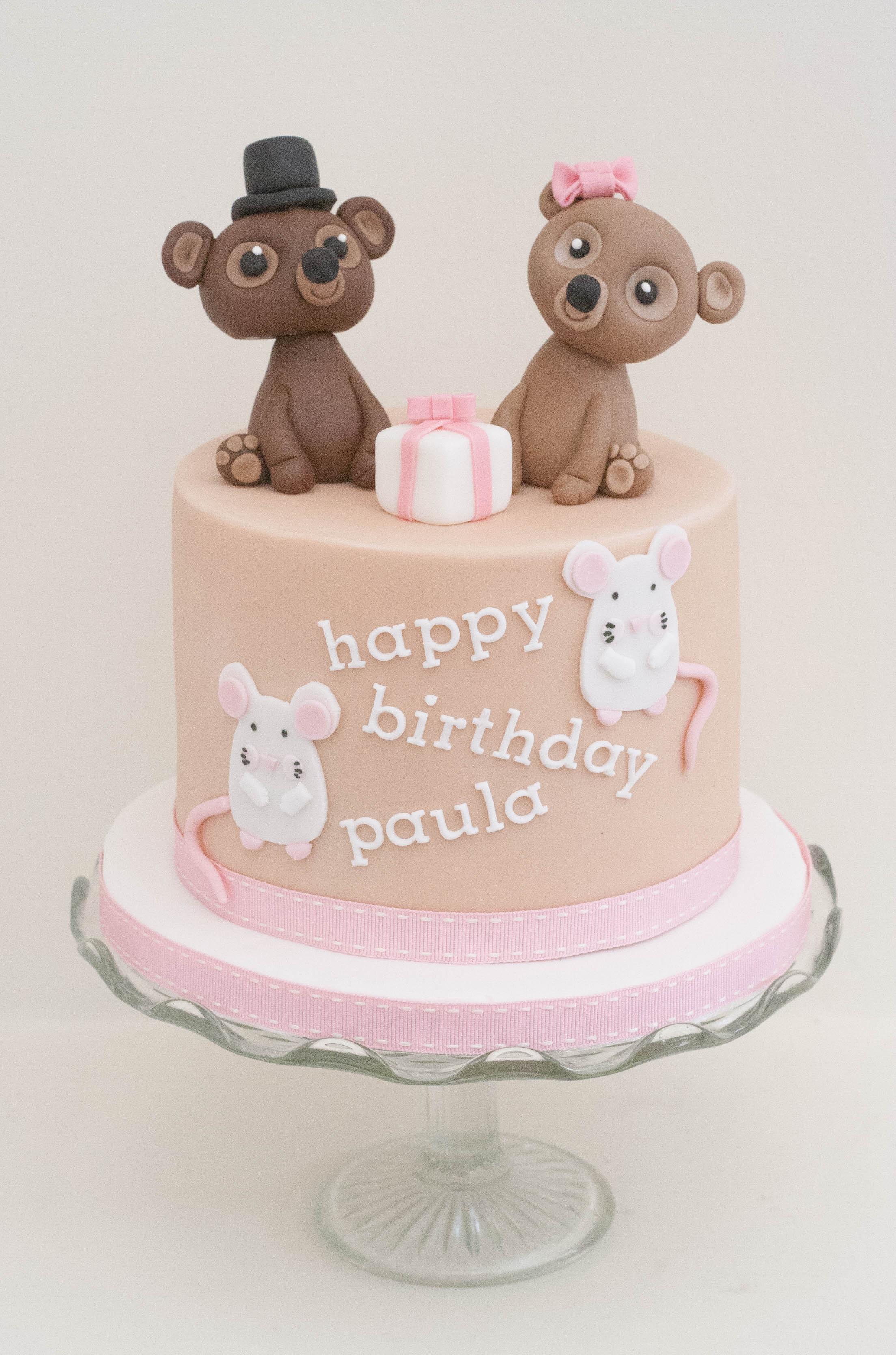 two bears two rats vegan cake