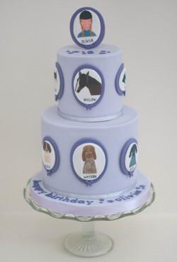 pet portrait vegan cake