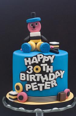 Bertie Bassett liquorice allsort cake