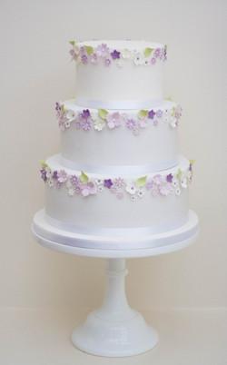 lilac blossom wedding cake vegan