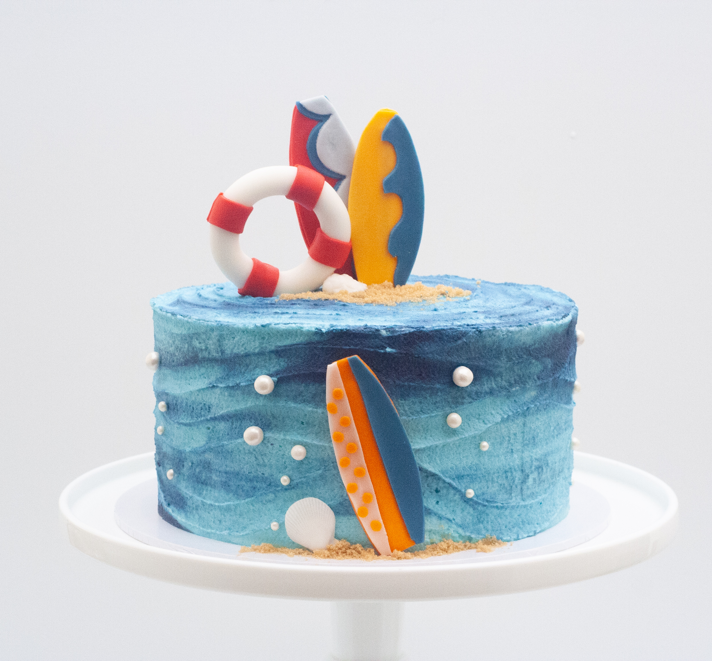 frosted surf cake