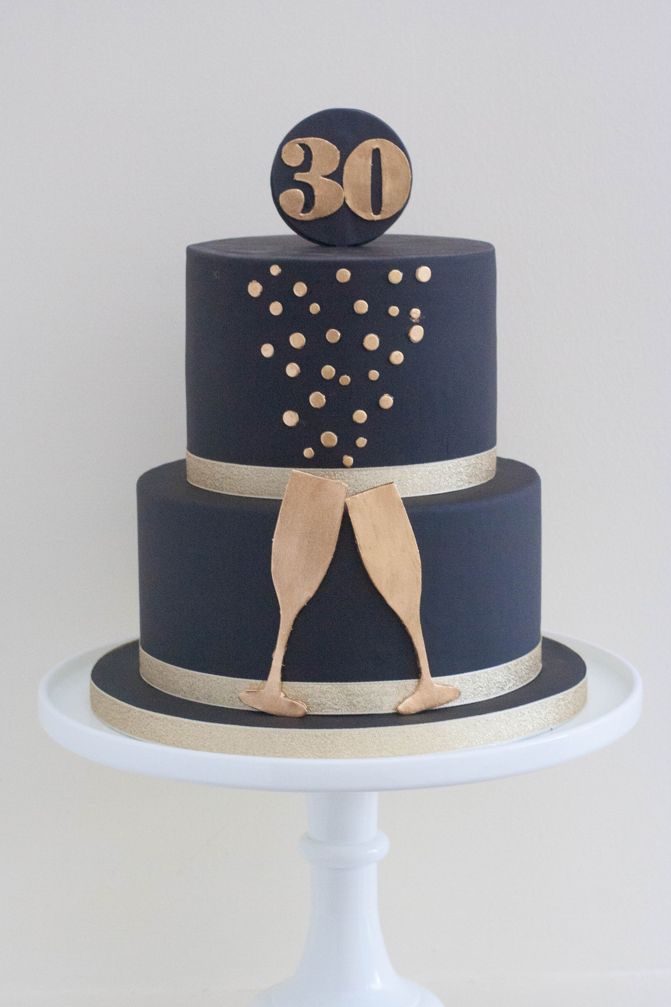 black and gold vegan birthday cake champ