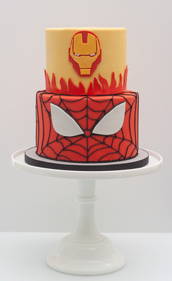 Iron Man Spider Man cake