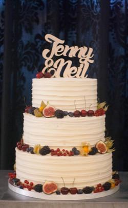 frosted three tier wedding cake vegan fr