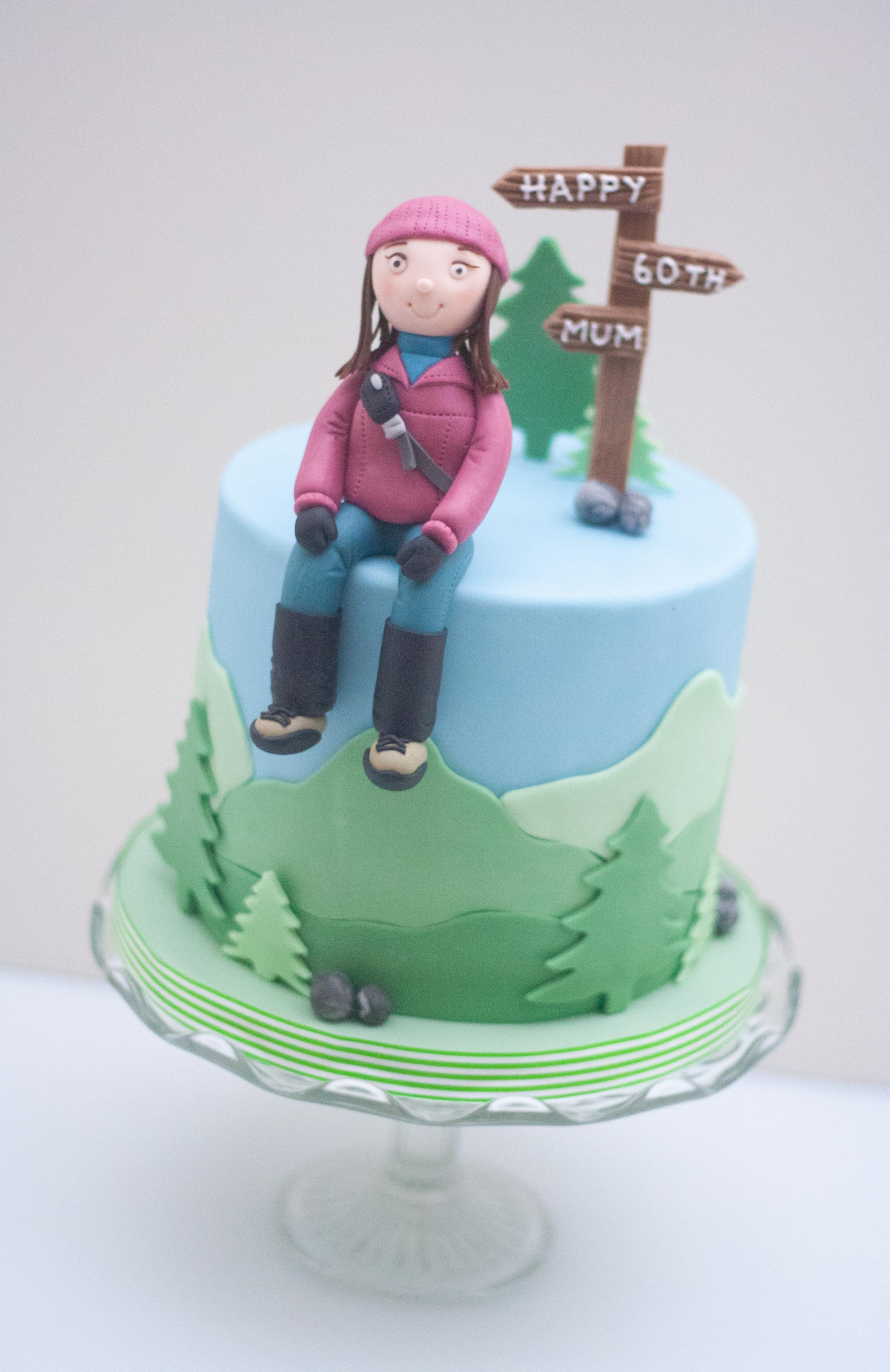 walking Lakes cake