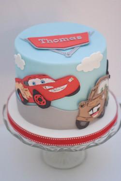 Disney Cars 2D vegan cake