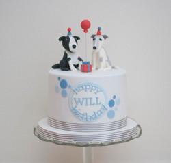 two dogs vegan birthday cake
